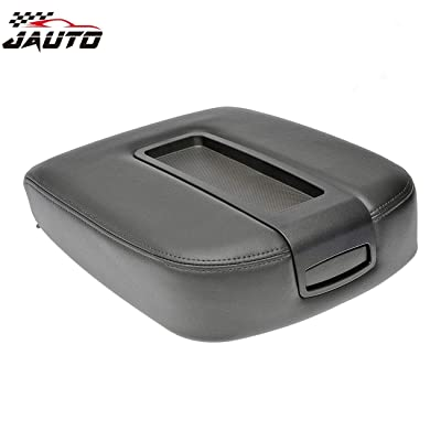 JAUTO Leather Center Console Lid Kit for 2007-2014 Chevy Chevrolet Silverado,Tahoe,Suburban,Avalanche,GMC Sierra,Yukon,Yukon XL - Replaces 15217111 15941534 - Black: Automotive
