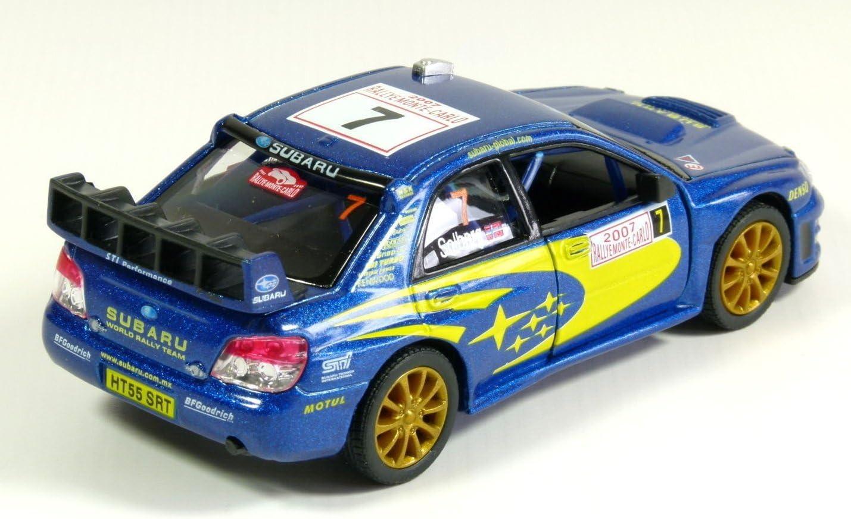 Subaru Impreza WRC 2007 Modelo de coche Rally Sports 1:36 Escala Diecast Metal Altamente detallada Puertas de apertura Tire hacia atr/ás Go Acci/ón Modelo de calidad Car by Kinsmart
