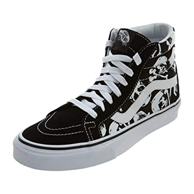 Vans Unisex Shoes SK8 Hi Reissue (Skulls) Black White Skate Sneakers (8.5 13dddef3a