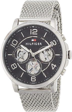 Reloj para hombre Tommy Hilfiger 1791292, mecanismo de cuarzo, diseño con varias esferas, correa de acero inoxidable.: Amazon.es: Relojes