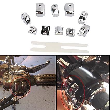 Amazon chrome radio cruise switch cap kit for harley fltr flhtk amazon chrome radio cruise switch cap kit for harley fltr flhtk 1996 2013 10 pcs automotive fandeluxe Choice Image