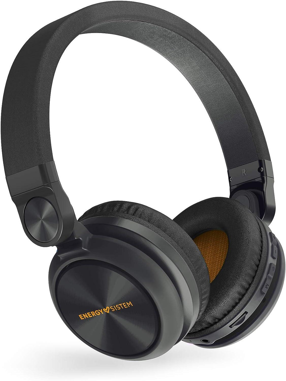 Energy Sistem Headphones BT Urban 2 Radio Black (Auriculares inalambricos, Reproductor MP3 microSD, Radio, Bluetooth)