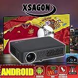 proyector FULLHD soportado, XSAGON HD600 con Android, DLP, Wifi, HDMI, VGA, Ethernet, USB,SD, AC3, 2 años de garantía