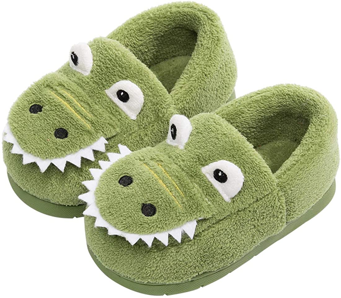 Girls Boys Toddler Dinosaur Home Slippers Outdoor Indoor Home Shoes Kid Winter Warm Comfort Shoes