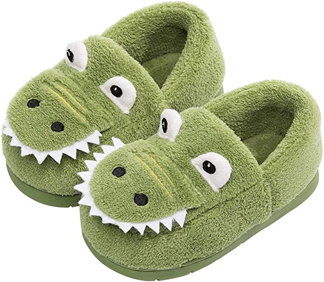 Boys Girls Warm Dinosuar House Slippers