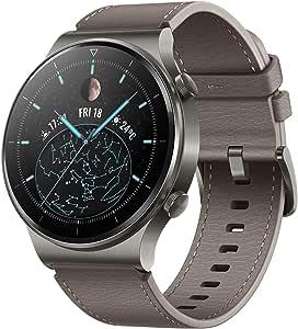 "HUAWEI WATCH GT 2 Pro Smartwatch, 1.39"" AMOLED HD Touchscreen, 2-Week Battery Life, GPS and GLONASS, SpO2, 100+ Workout Modes, Bluetooth Calling, Heartrate Monitoring, Grey"