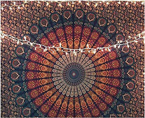 Flower Nature Tapestry Polyester Wall Hanging Carpet Blanket Yoga Mat Home Decor