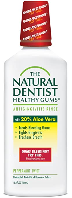 2a3a0bff3410 The Natural Dentist Healthy Gums Antigingivitis Mouthwash to Prevent and  Treat Bleeding Gums and...