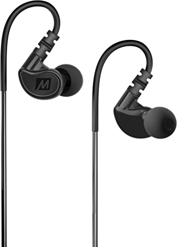 MEE audio M6 Memory Wire In-Ear Wired Sports Earbud Headphones Black 2018 Version