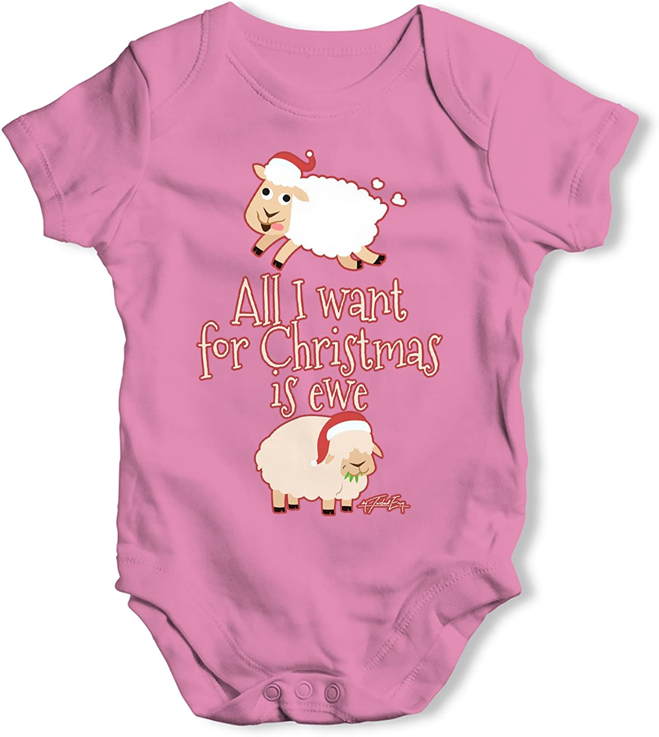 Twisted Envy Cute Sheep Baby Unisex Funny Baby Grow Bodysuit