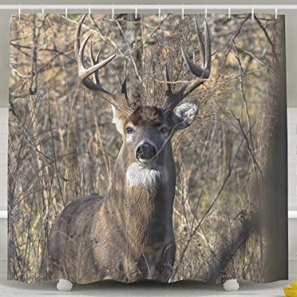 Whitetail Deer Odorless Waterproof Shower Curtains For Bathroom Premium 100 Polyester Fabric Decorative Bath Curtain