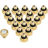 """KUWAN 20pcs Brass Misting Nozzles for Cooling System 0.012"""" (0.3 mm) 10/24 UNC Garden"""