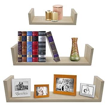 Amazon.com: Sorbus Floating Shelves—U Shaped Hanging Wall Shelves ...