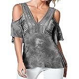 Vovotrade® De la Camiseta de la Camisa Hueco del Verano de Las Mujeres del Cuello