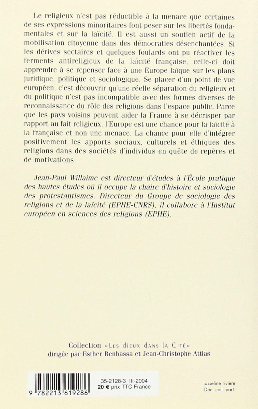 Europe et religions : Les enjeux du XXIe siècle (« Les dieux dans la Cité ») (French Edition)