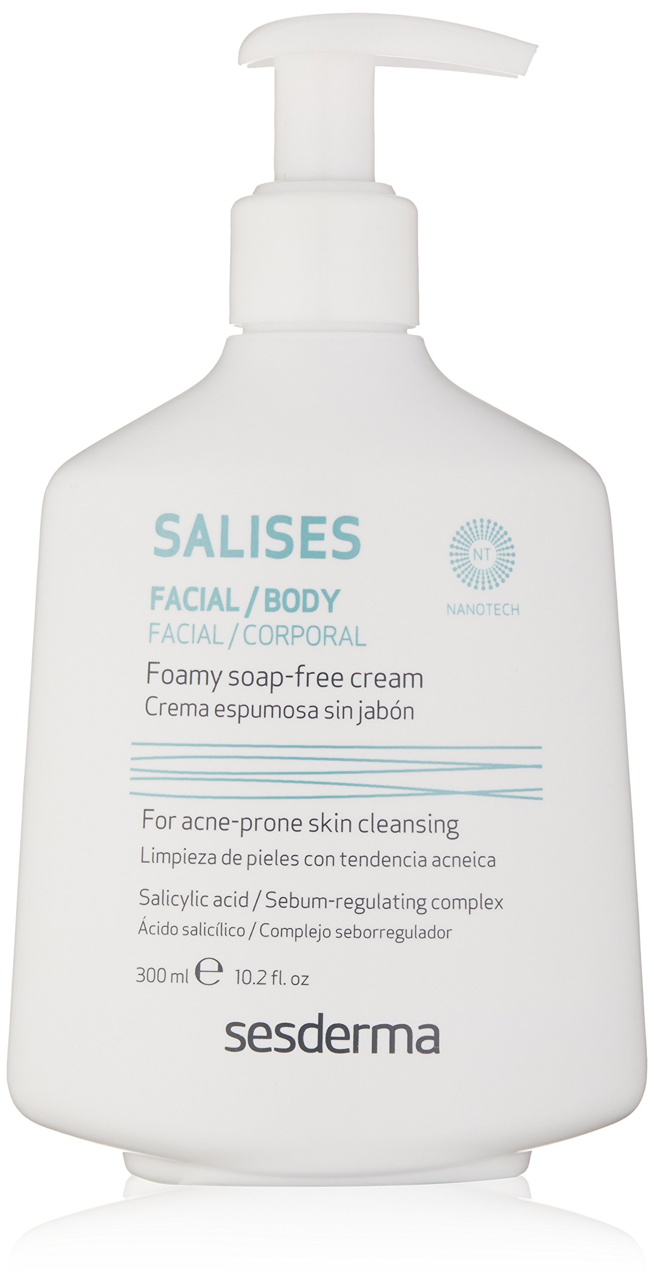 Sesderma SALISES Foamy Soap-free Cream, 10.2 Fl Oz