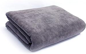 Bath Towels Multi-Purpose Microfiber (32 x 71 Inch) Soft Fast Drying Travel Gym Home Hotel Office Washcloths (Grey)