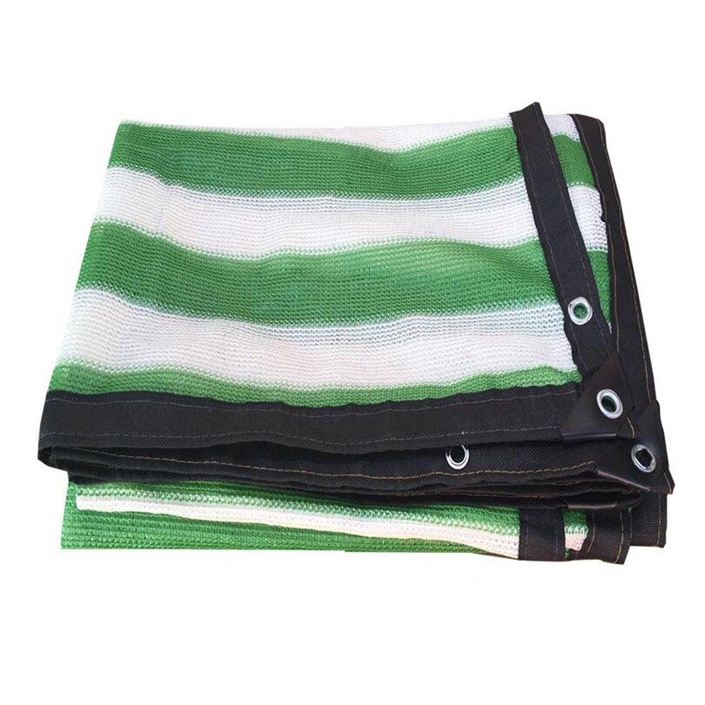 LQQGXL 折りたたみ可能な耐久性のあるシェードネット、太陽の花通気性メッシュフェンス、耐久性に優れた折りたたみ式断熱材 防水シート (色 : Green and white, サイズ さいず : 6x6m) 6x6m Green and white B07HJ659SZ