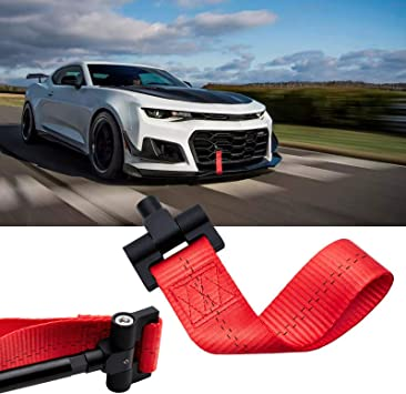 Xotic Tech Red JDM Style Towing Strap Tow Hole Adapter for Chevrolet Camaro 2016-2018 Xotic Tech Direct