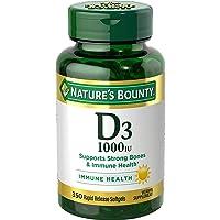 Vitamin D by Nature's Bounty, Supports Immune and Bone Health, 1000IU Vitamin D3...