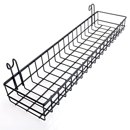 Wall Decor Black Wire Storage Shelf Rack for Home Supplies Wall Shelf with Hook ANZOME Straight Shelf Wire Shelving for Grid Panel