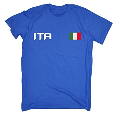 5b6bdd6a 123t Nation Shirts Italy Supporter Games Team Italia Fan Tee Italian Flag  Sports Jersey T-Shirt: Amazon.co.uk: Clothing