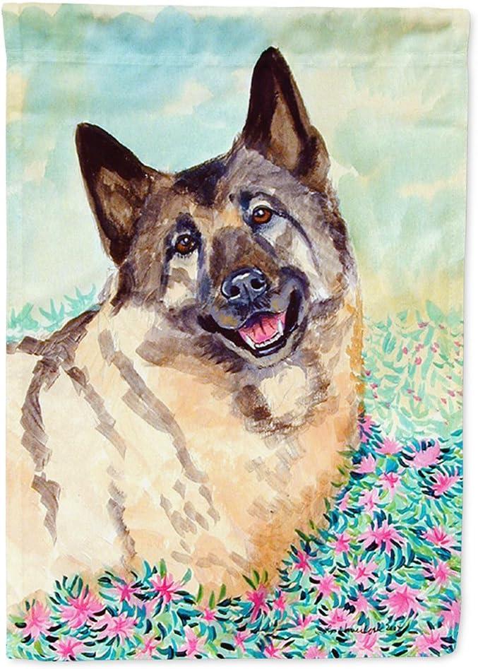 Caroline's Treasures 7231GF Norwegian Elkhound Flag Garden Size, Small, Multicolor