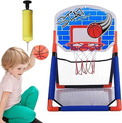 MRKE Mini Canasta Baloncesto, Portátil Canasta Baloncesto Infantil ...