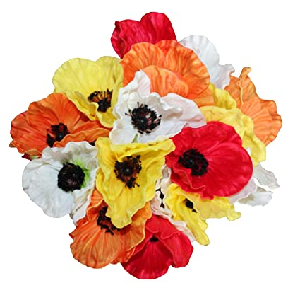 Amazon en ge 10 stems mini artificial poppies real touch fake en ge 10 stems mini artificial poppies real touch fake latex flowers for bridal wedding bouquet mightylinksfo