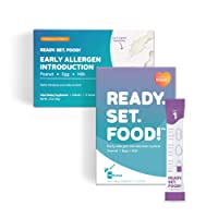 Early Allergen Introduction for Babies, Peanut, Egg & Milk: Stage 1 & 2, 30 Days - Mix with breast milk, formula, or food to help prevent food allergies by Ready, Set, Food! | As seen on Shark Tank