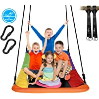 """Trekassy 700lb Giant 60"""" Skycurve Platform Tree Swing for Kids and Adults Textliene Wear- Resistant with 2 Hanging Straps"""