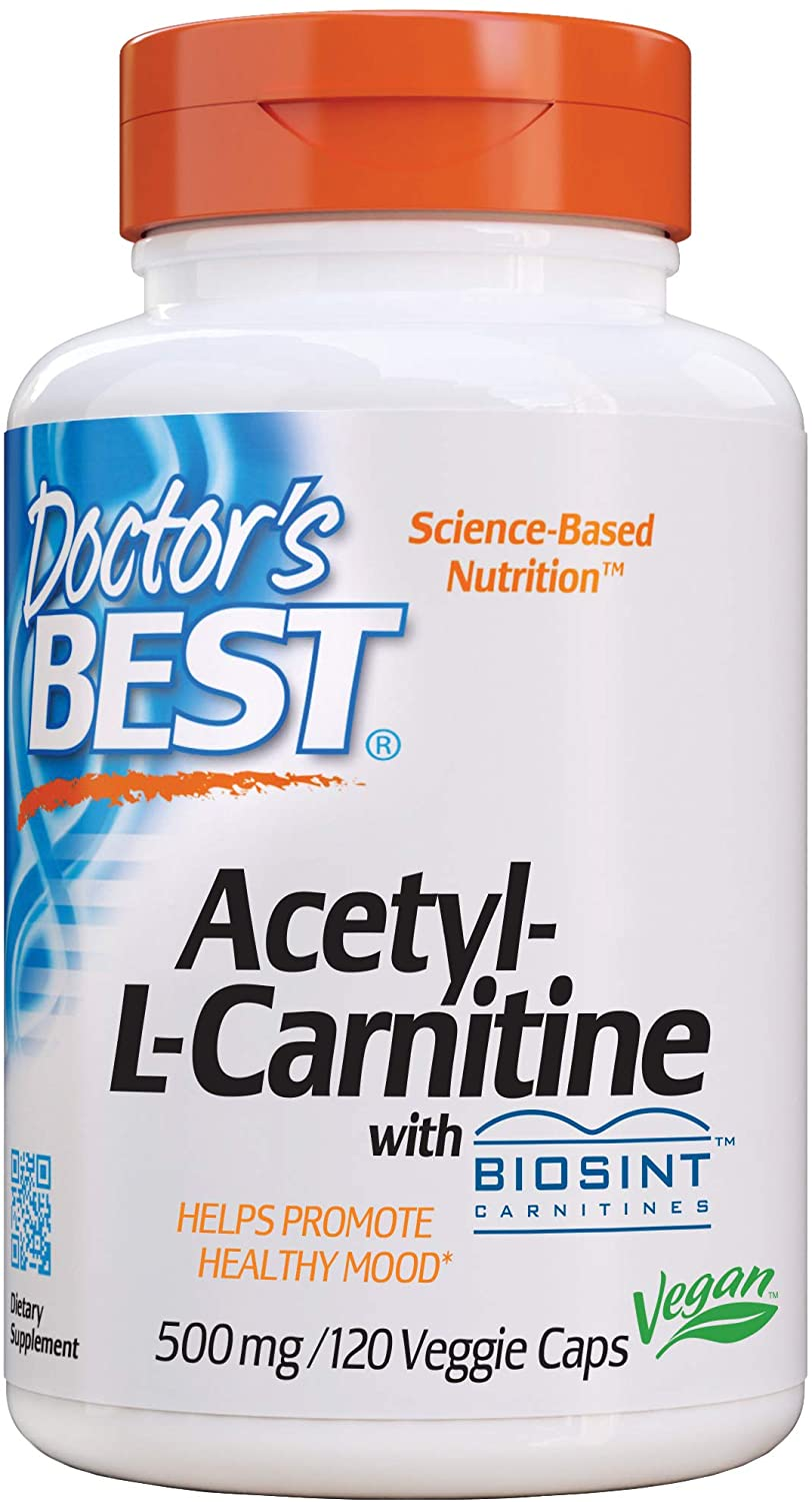 Doctor's Best Acetyl L-Carnitine, Help Boost Energy Production, Support Memory/Focus, Mood, Non-GMO, Vegan, Gluten Free, 120 Count (Pack of 1) (DRB-00152): Health & Personal Care