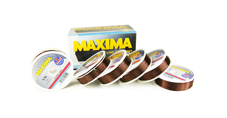 Maxima Chameleon Brown fishing line 100M spools monofilament 12 lb 15 lb