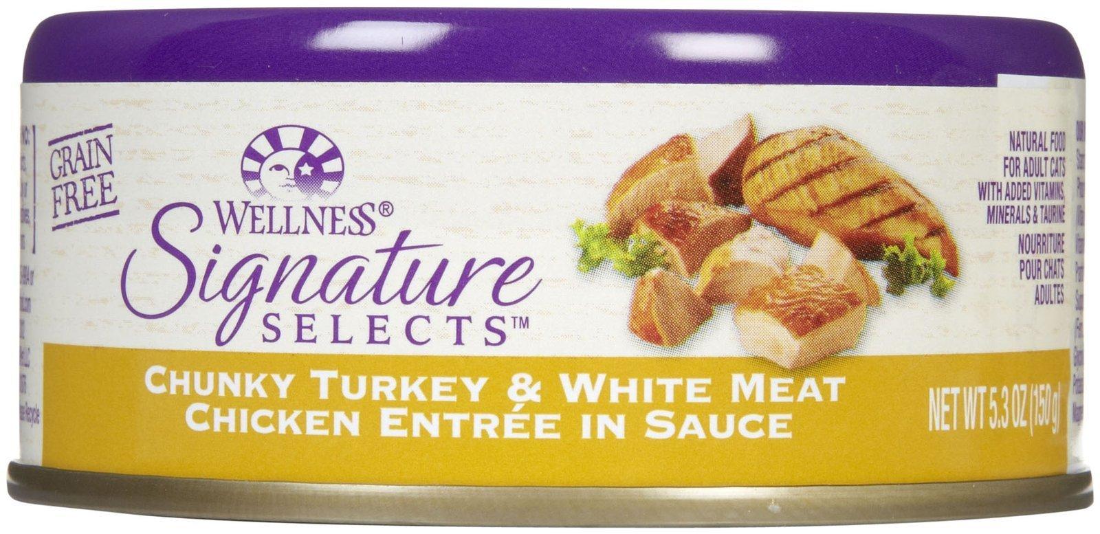 Wellness Signature Selects Chunky Turkey & Chicken - 24x5.3oz