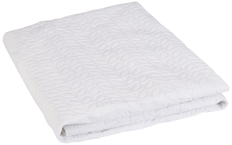 Bedsack PEVA Leaf Quilted Waterproof Mattress Pad, Full, White 805441