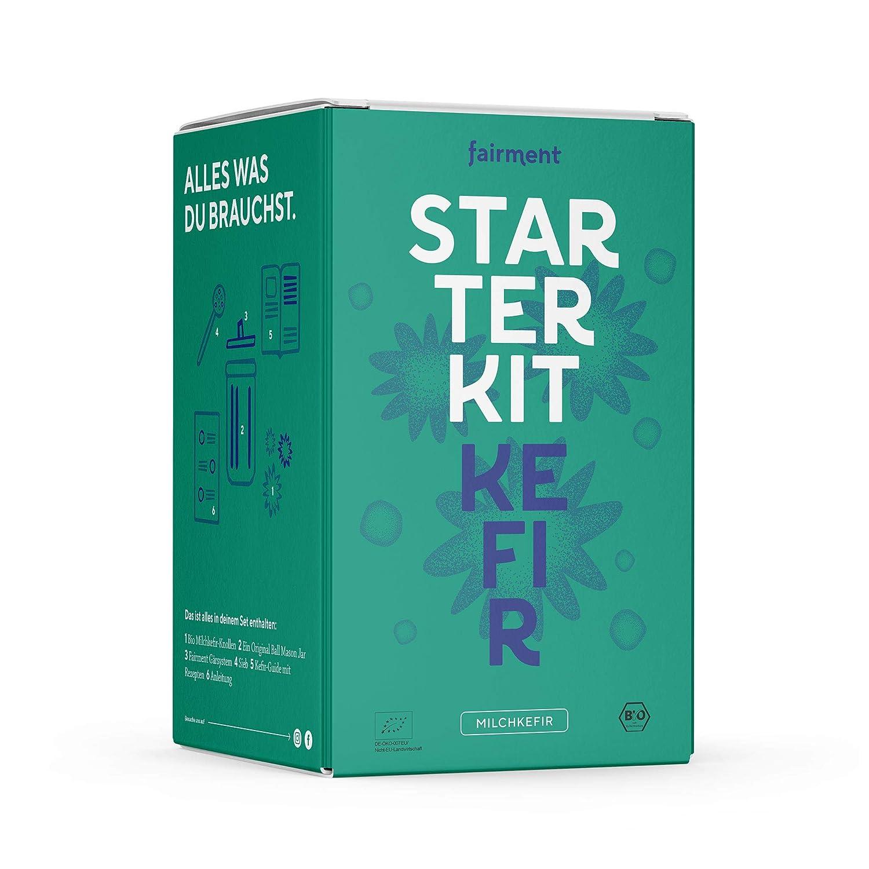 Fairment Starterkit Kefir - Milchkefir einfach selber machen - mit Bio Kefirkultur - Kefir selber machen