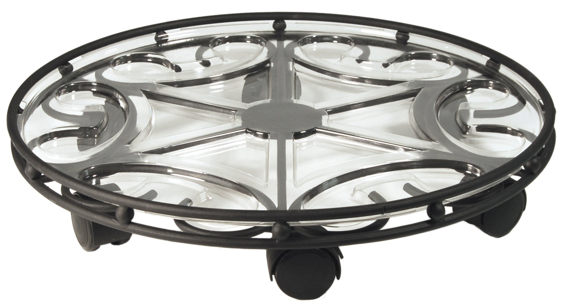 Plastec SC21BK Deluxe Saucer Caddy, 21-Inch, Black