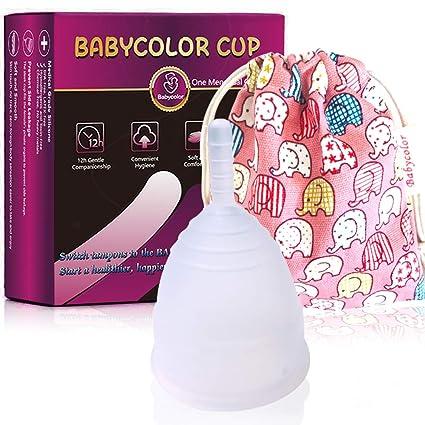 Copa Menstrual-copa menstrual más recomendada-Incluye una bolsa de regalo-Pastillas Esterilizadoras, 4 unidades-Pastillas para esterilizar y ...