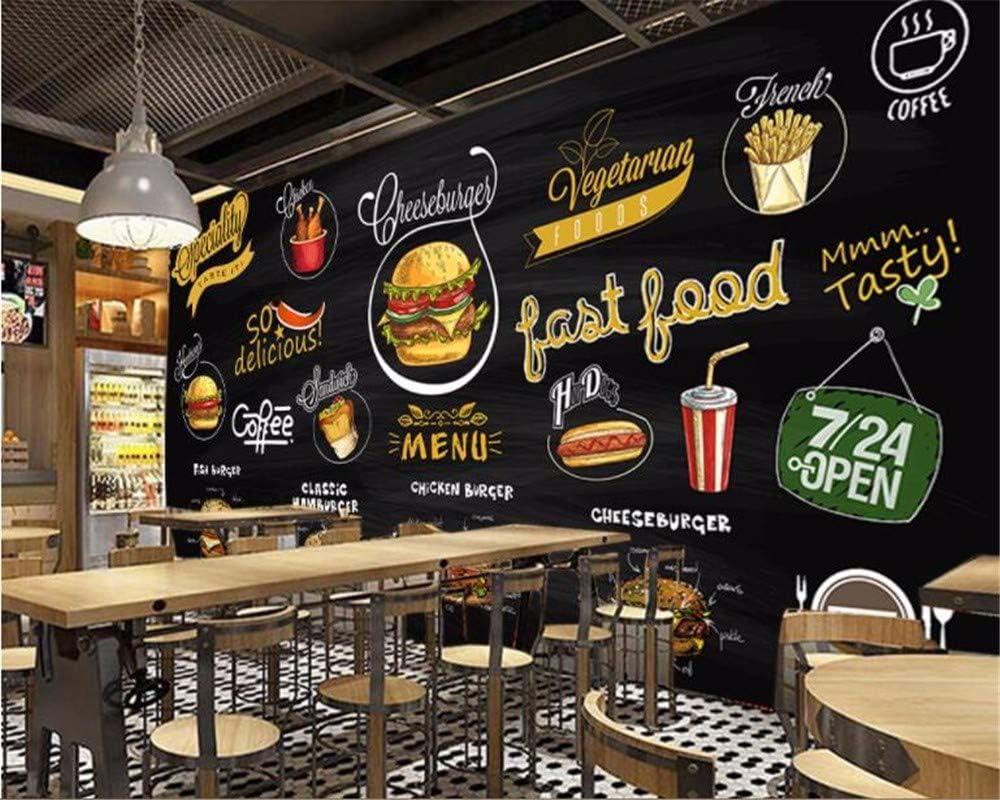 Murales Hd Pintado A Mano Pizarra Pizza Hamburguesa Restaurante ...