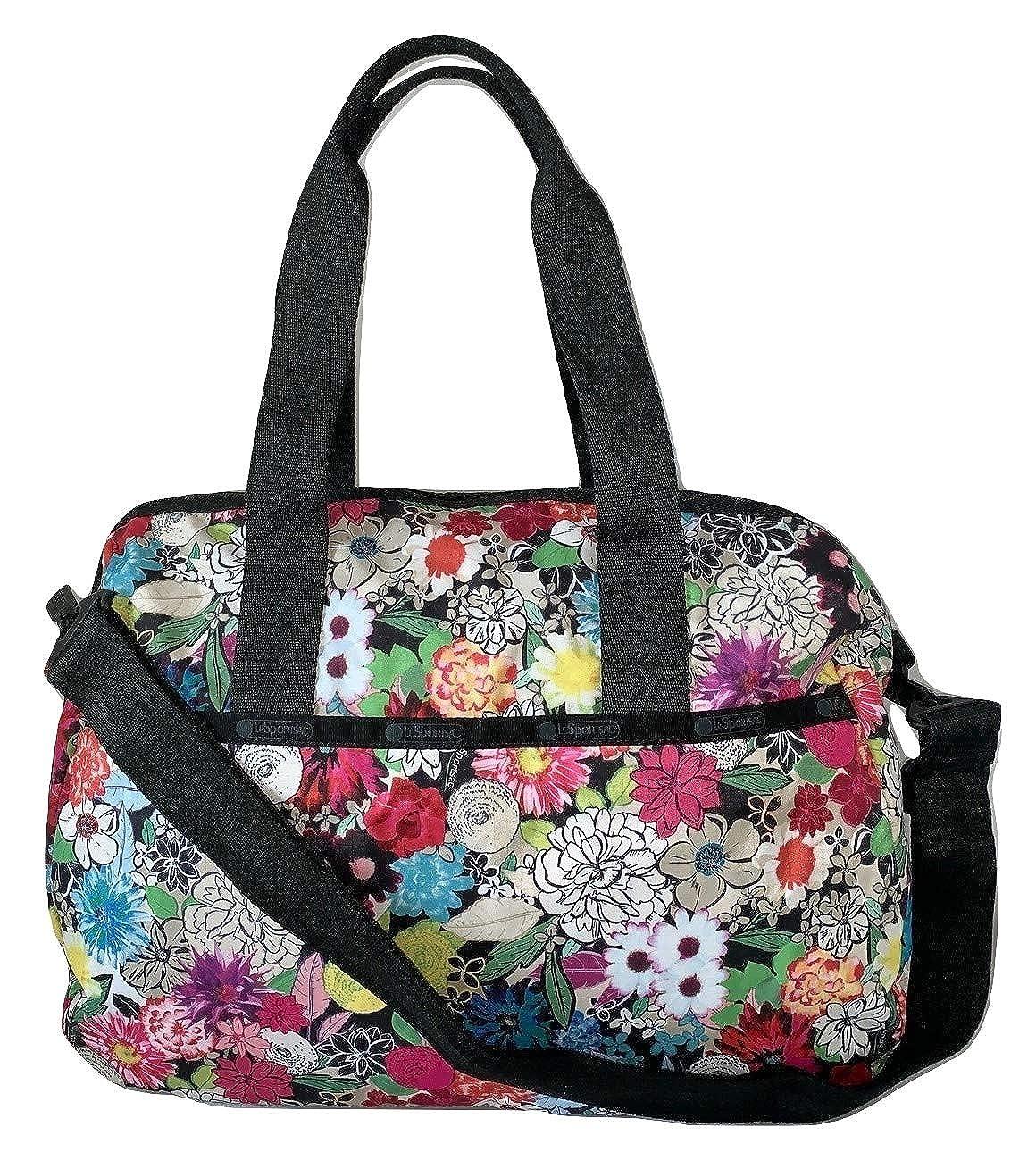 LeSportsac Sunlight Floral Harper Congreenible Crossbody & Top Handle Tote Handbag Carryon, Style 3356 color E141