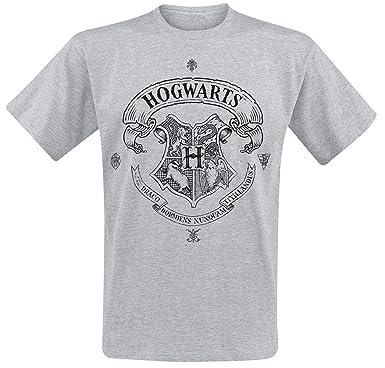 94441d466b8ea HARRY POTTER Poudlard T-Shirt Manches Courtes Gris chiné  Amazon.fr   Vêtements et accessoires