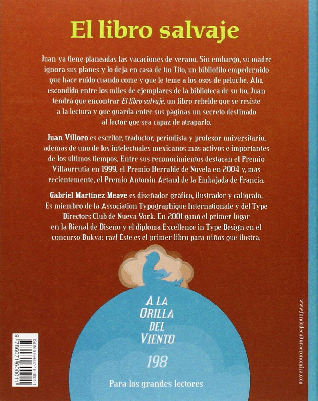 El libro salvaje (Spanish Edition): Villoro Juan: 9786071600011:  Amazon.com: Books