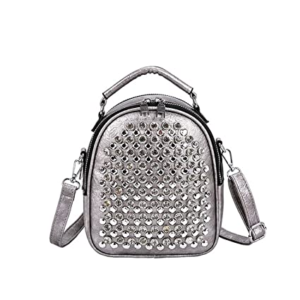 Amazon.com: New Bagpack Multifunction Studs Small Backpack ...