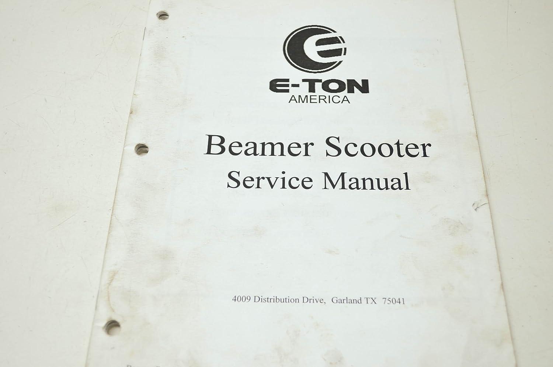 Amazon.com: E-Ton Manual46-11 Beamer Scooter Service Manual QTY 1:  Automotive