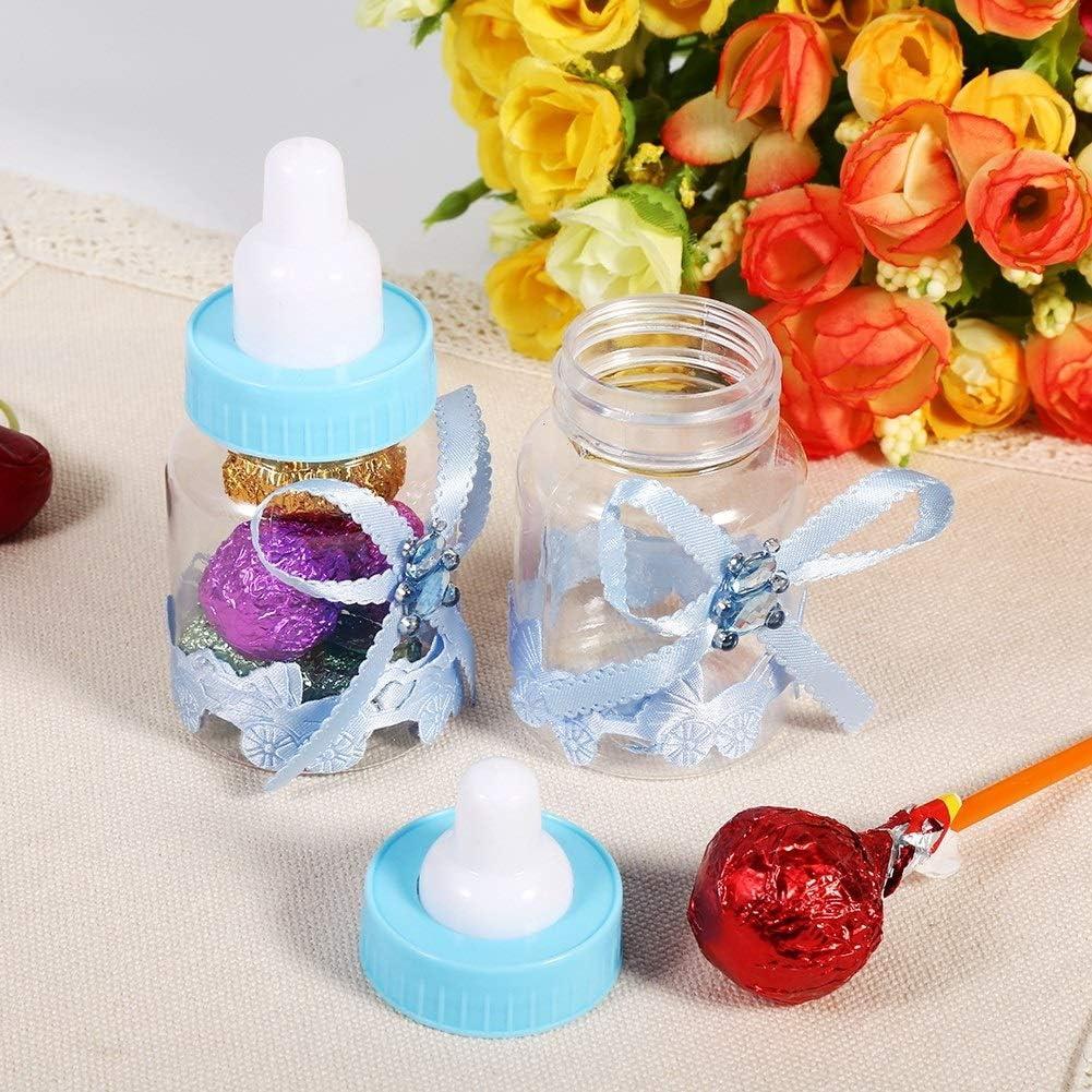 Bleu Biberon Baby Shower 50 Pcs Mini Bouteilles De Chocolat De Bonbons Bo/îte Forme De Biberon for Baby Shower Party Favors Cadeaux F/êtes Danniversaire D/écorations