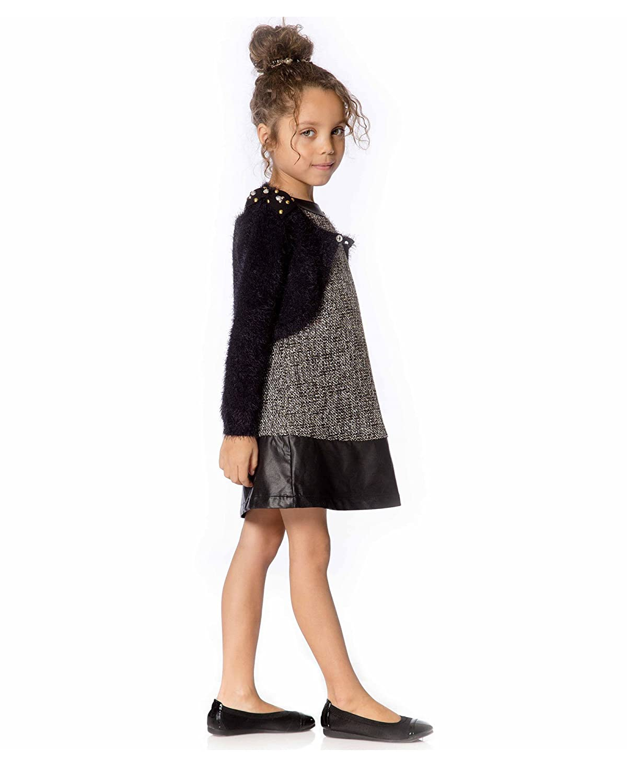 Deux par Deux Girls Shag Knit Bolero Make a Wish Sizes 4-12