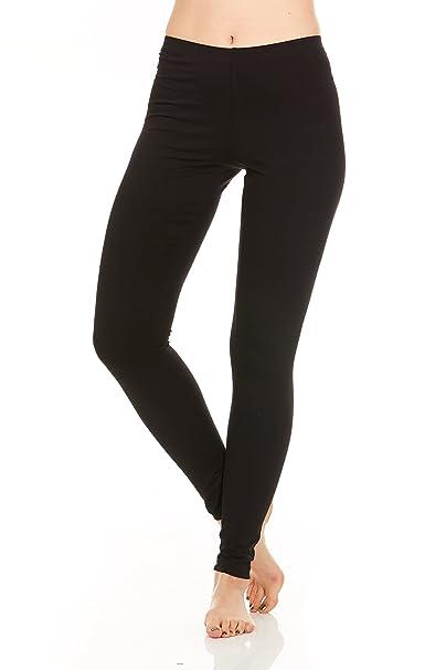 cb614b87e655a0 FGR Apparel 95%Cotton 5%Spandex women Full length Leggings, Black , Small