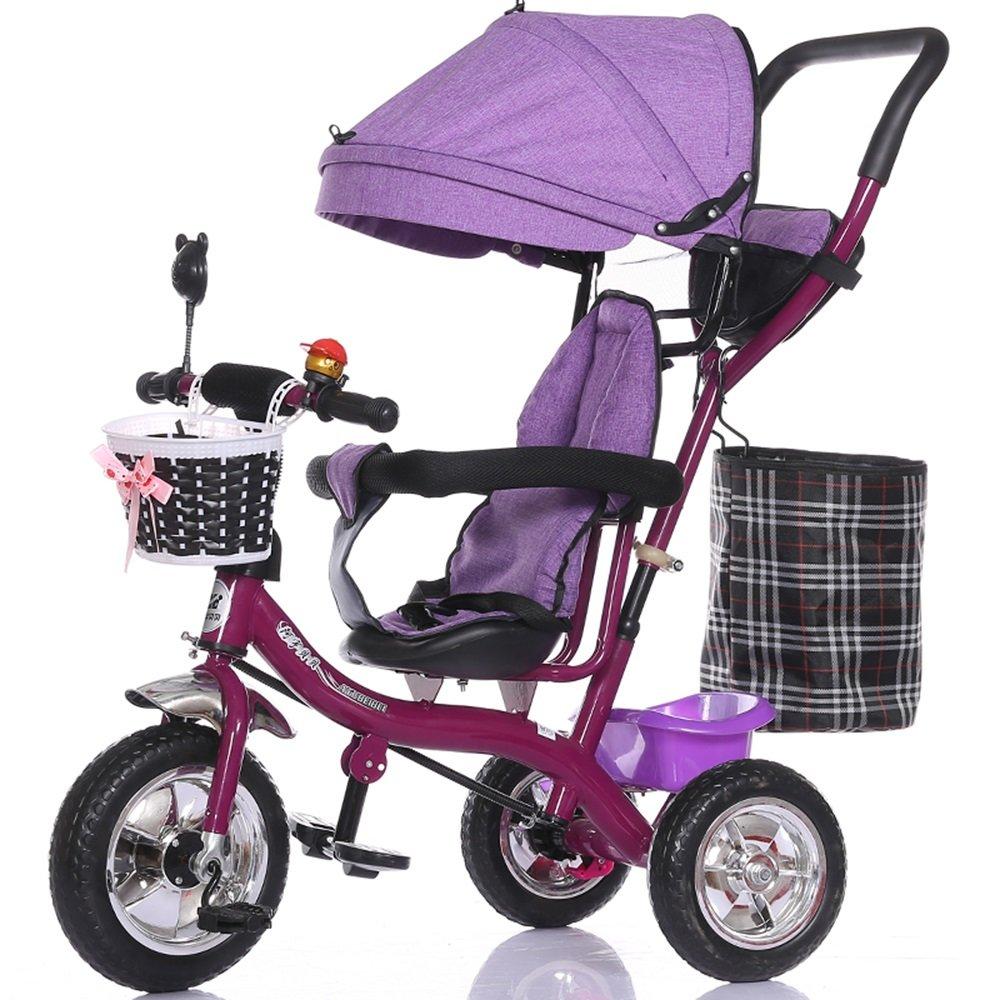 バブルホイールベビーガール乳母車、子供用自転車、自転車、子供三輪車、ライトトロリー ( 色 : パープル ぱ゜ぷる ) B078KKNJSW パープル ぱ゜ぷる パープル ぱ゜ぷる