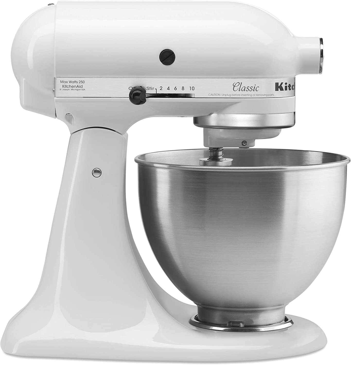 B00004SGFW KitchenAid Classic Series 4.5 Quart Tilt-Head Stand Mixer, White (K45SSWH) 71MTiwqi4dL