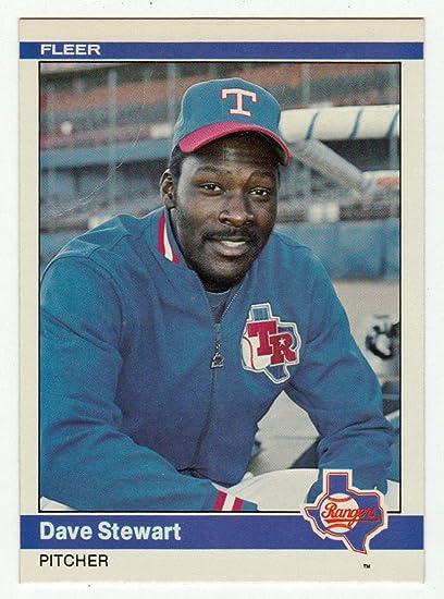 Amazoncom Dave Stewart Baseball Card 1984 Fleer 430 Nmm